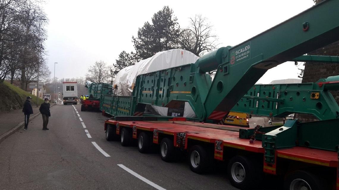 Convoi turbine GE en panne Belfort