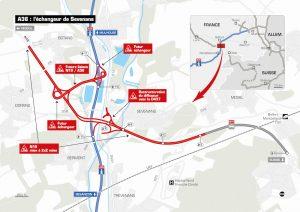 Le plan complet de l'aménagement du nouvel échangeur (Document APRR)