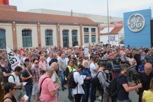 Entre 700 et 900 personnes ont assisté à l'AG des salariés et citoyens de GE turbines à gaz ce lundi 3 juin.