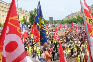 Plusieurs centaines de Gilets jaunes ont rejoint le cortège à l'occasion de ce mouvement.