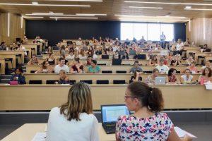 L'amphithéâtre de 200 places est un outil important de l'IFMS, qui peut aussi accueillir des conférences.
