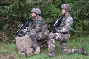 Section en appui des troupes d'assaut.