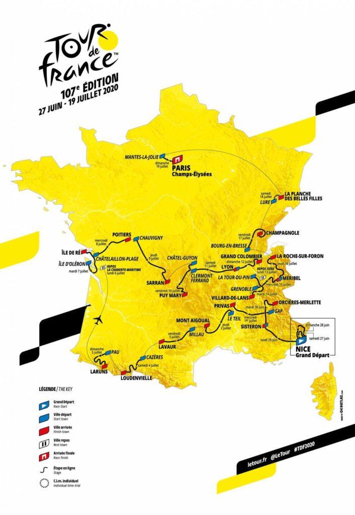 Le tracé du Tour de France 2020 a été dévoilé ce mardi matin, 15 octobre. (Doc Tour de France)