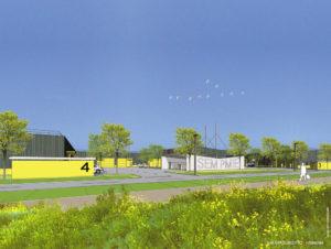 Les bâtiments Middle Tech 3 & 4, dans la zone d'activités Technoloand II, pour la SEM PMIE.