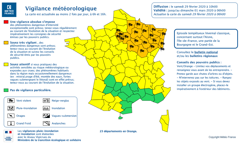 Vigilance météo 29_février_2020