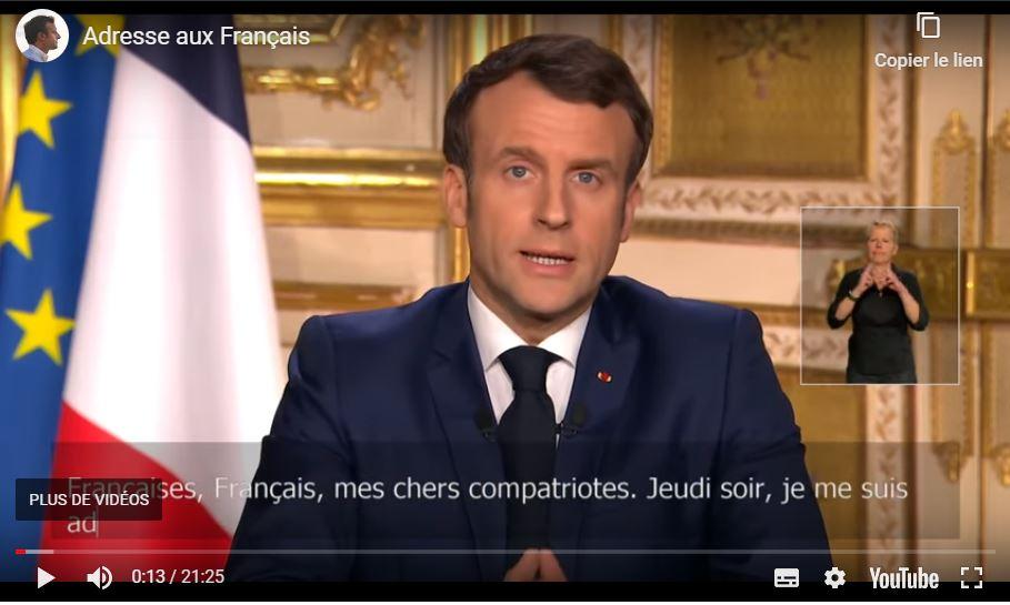 Allocution Emmanuel Macron 16 mars