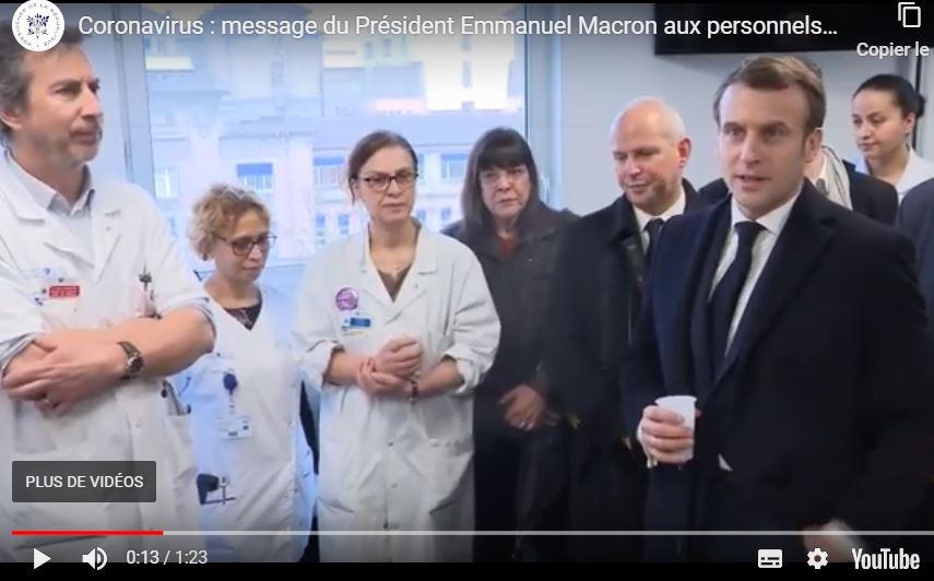 Macron visite hopital Pitié_Salpetriere