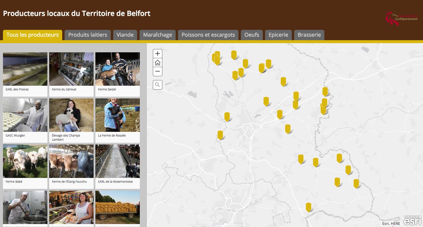 carte interactive producteurs locaux Belfort