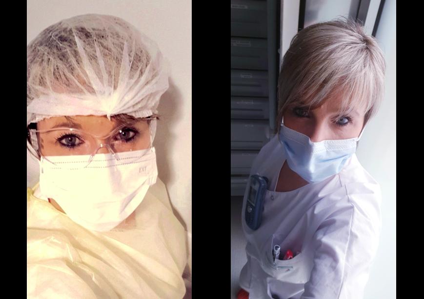 Agnès Clement est aide-soignante en unité covid-19 à l'hôpital Nord-Franche-Comté