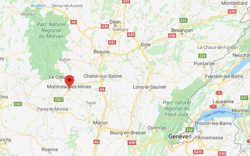 Montceau-les-Mines, en Bourgogne-Franche-Comté.