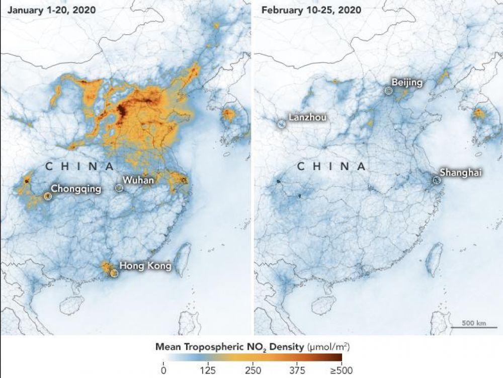 La Nasa a observé les conséquences de la quarantaine sur les émissions de CO2.