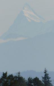 Le Finsteraarhorn vue depuis Berne, la capitale suisse (©Gautier Drouin)