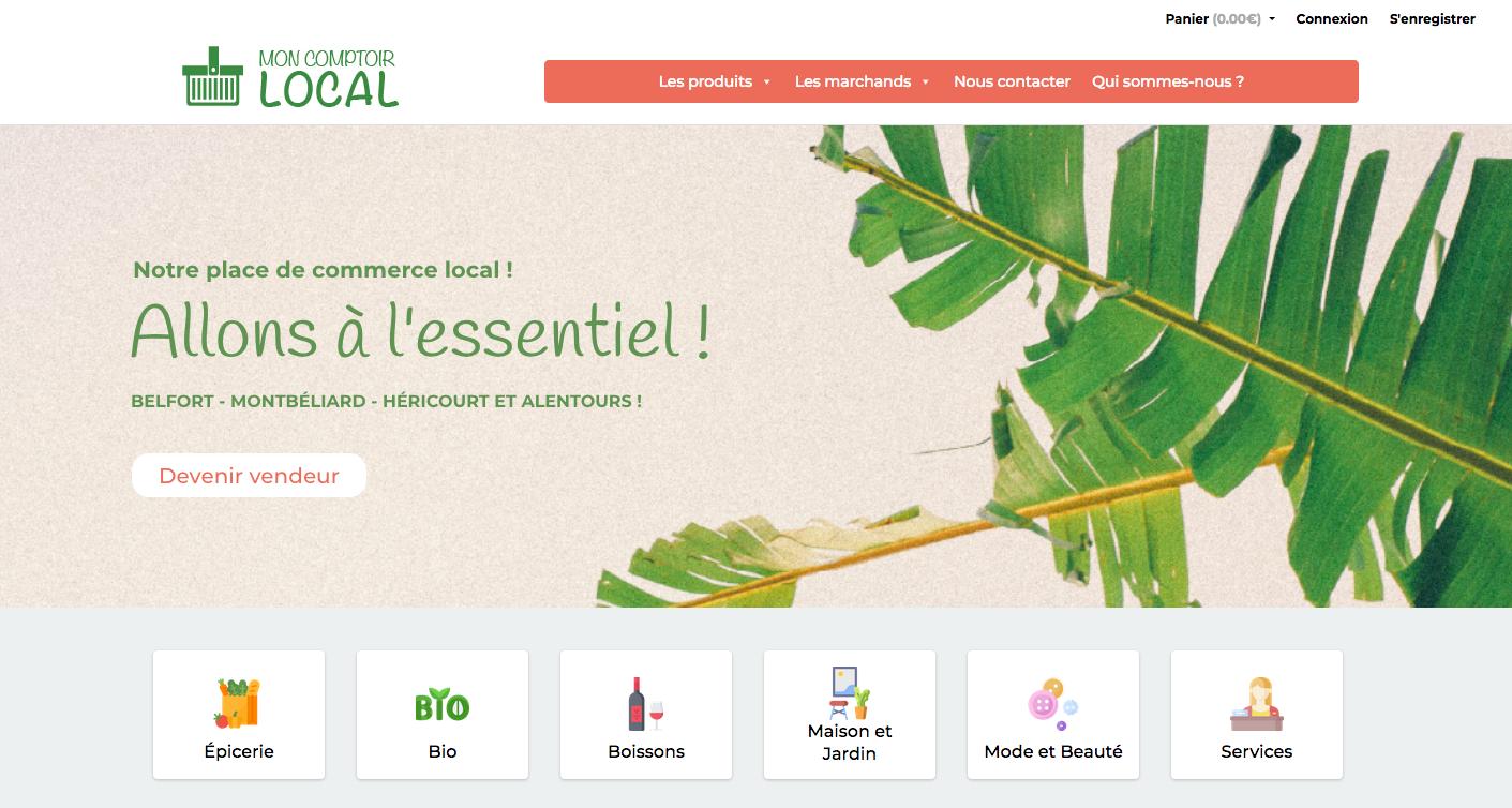Mon comptoir local propose un site qui répertorie les commerçants du nord Franche-Comté, quel que soit le domaine, et offre la possibilité d'acheter en ligne.