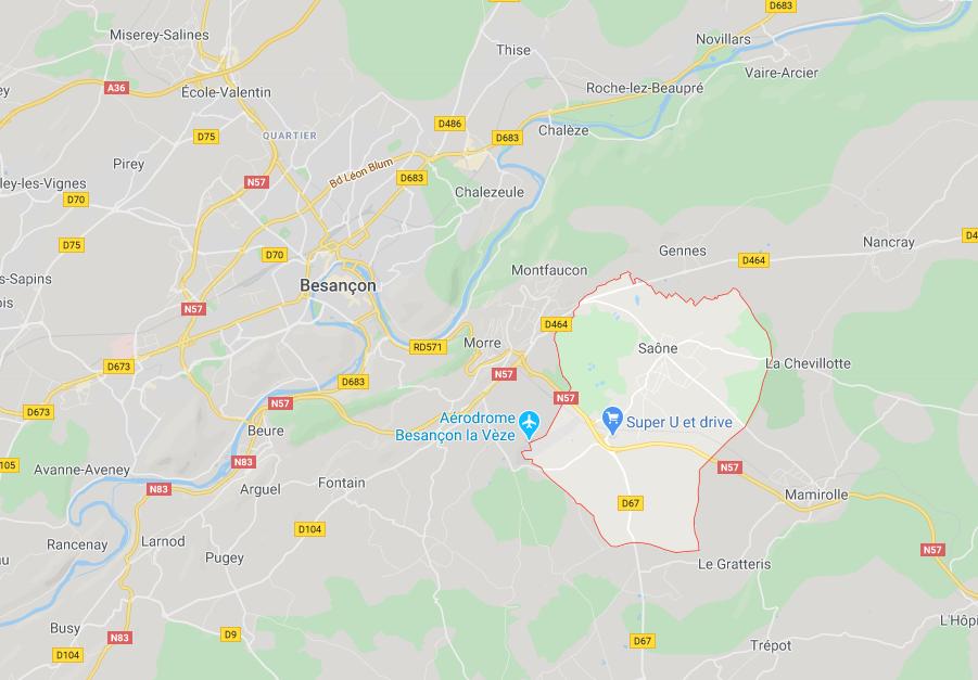 Village de Saône, à côté de Besançon.