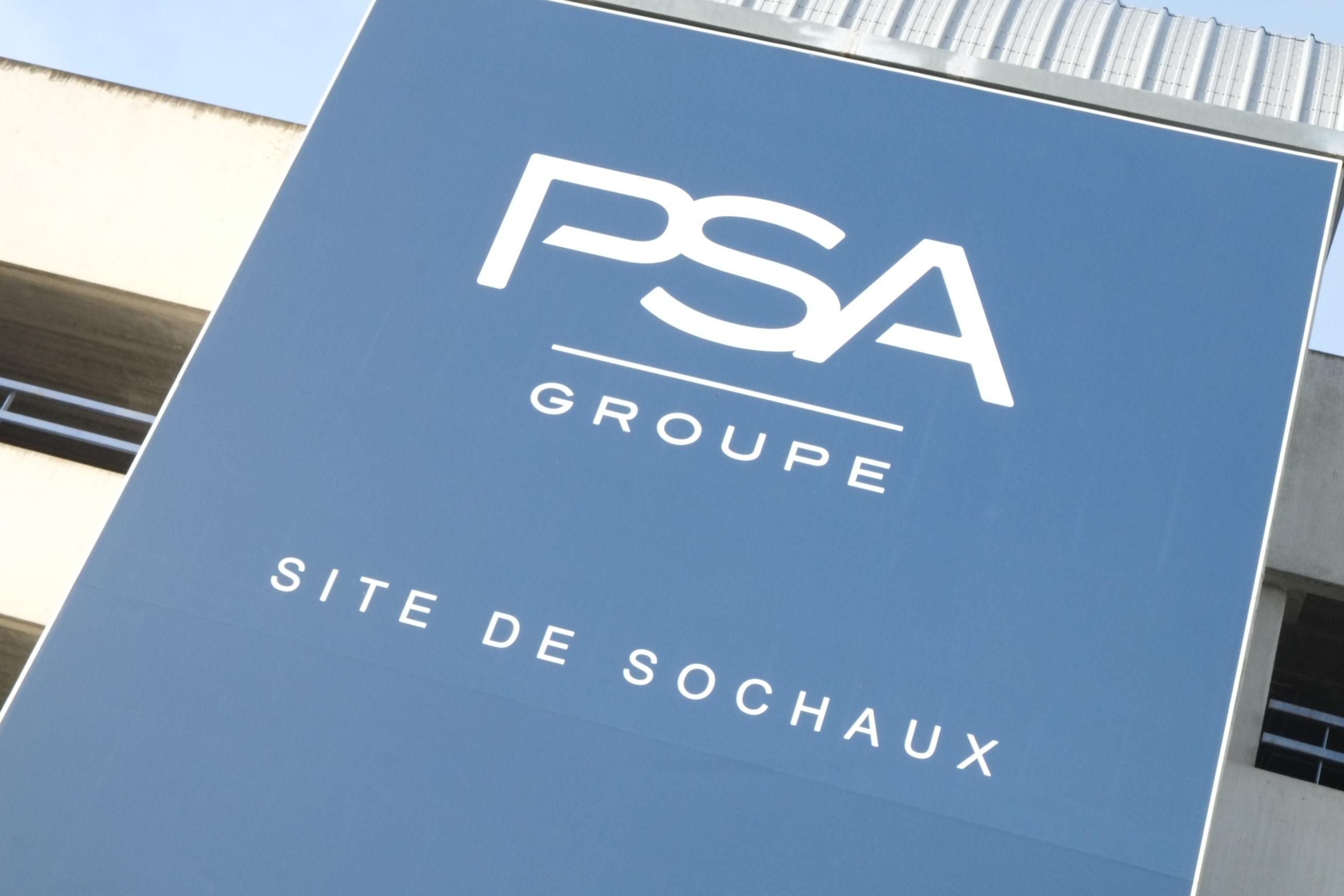 PSA logo Sochaux