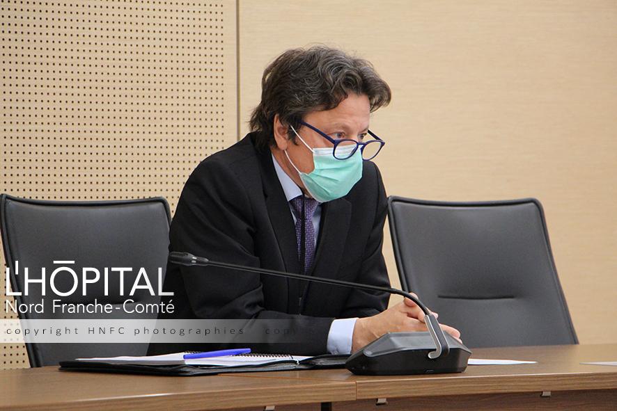 """Pascal Mathis, directeur général de l'hôpital Nord-Franche-Comté estime que """"la place de l'hôpital a été réaffirmée""""."""