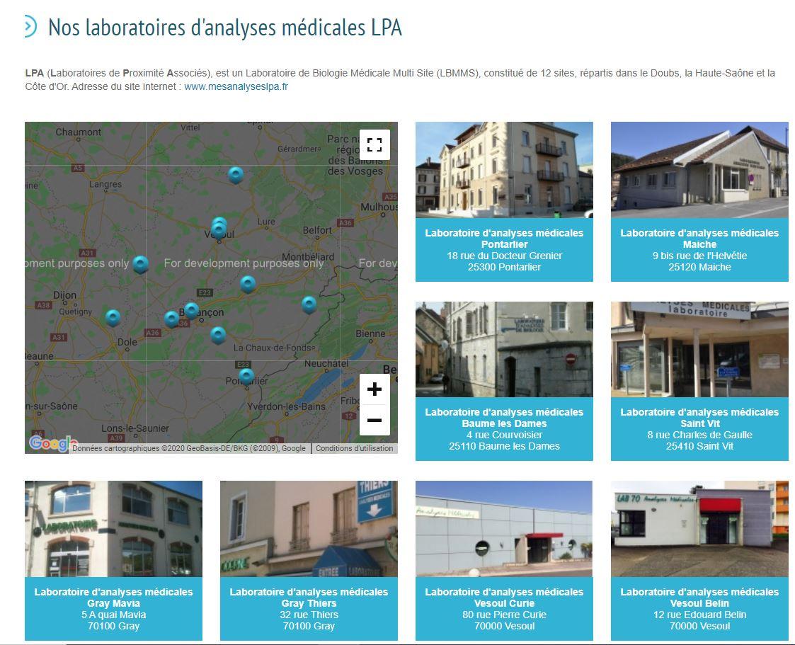 Plateforme laboratoires LPA