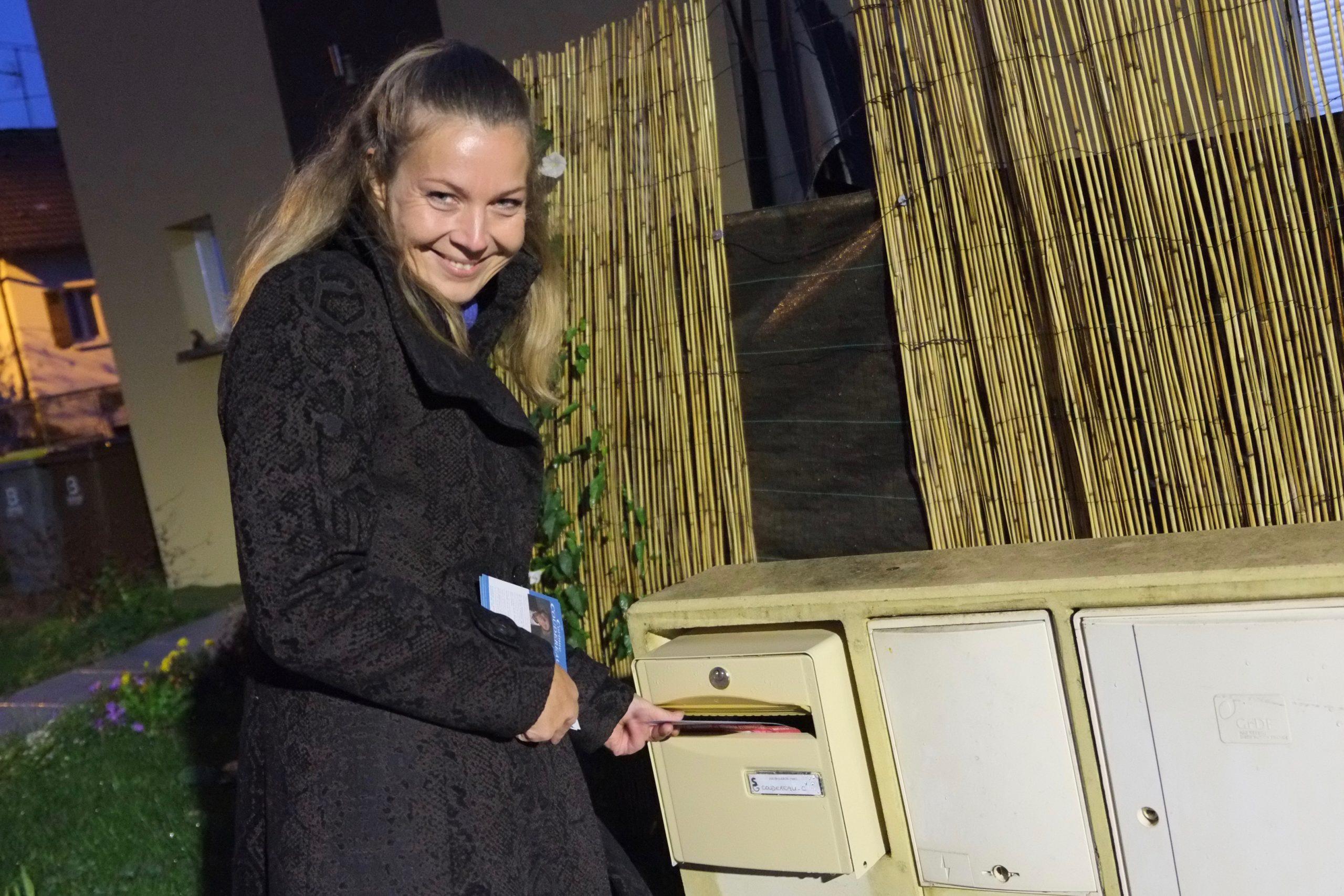 Corinne Coudereau, lors du lancement de sa campagne pour les municipales, en octobre 2019.