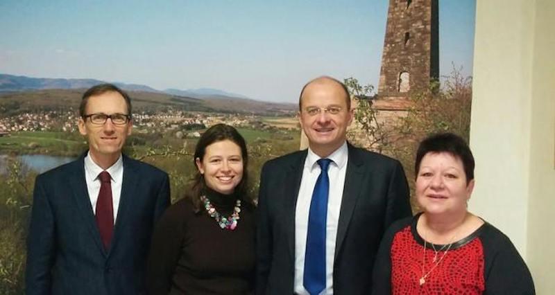Jean-Christophe Messin, à gauche, conseiller départemental du Territoire de Belfort. Il a suppléé Christophe Grudler.