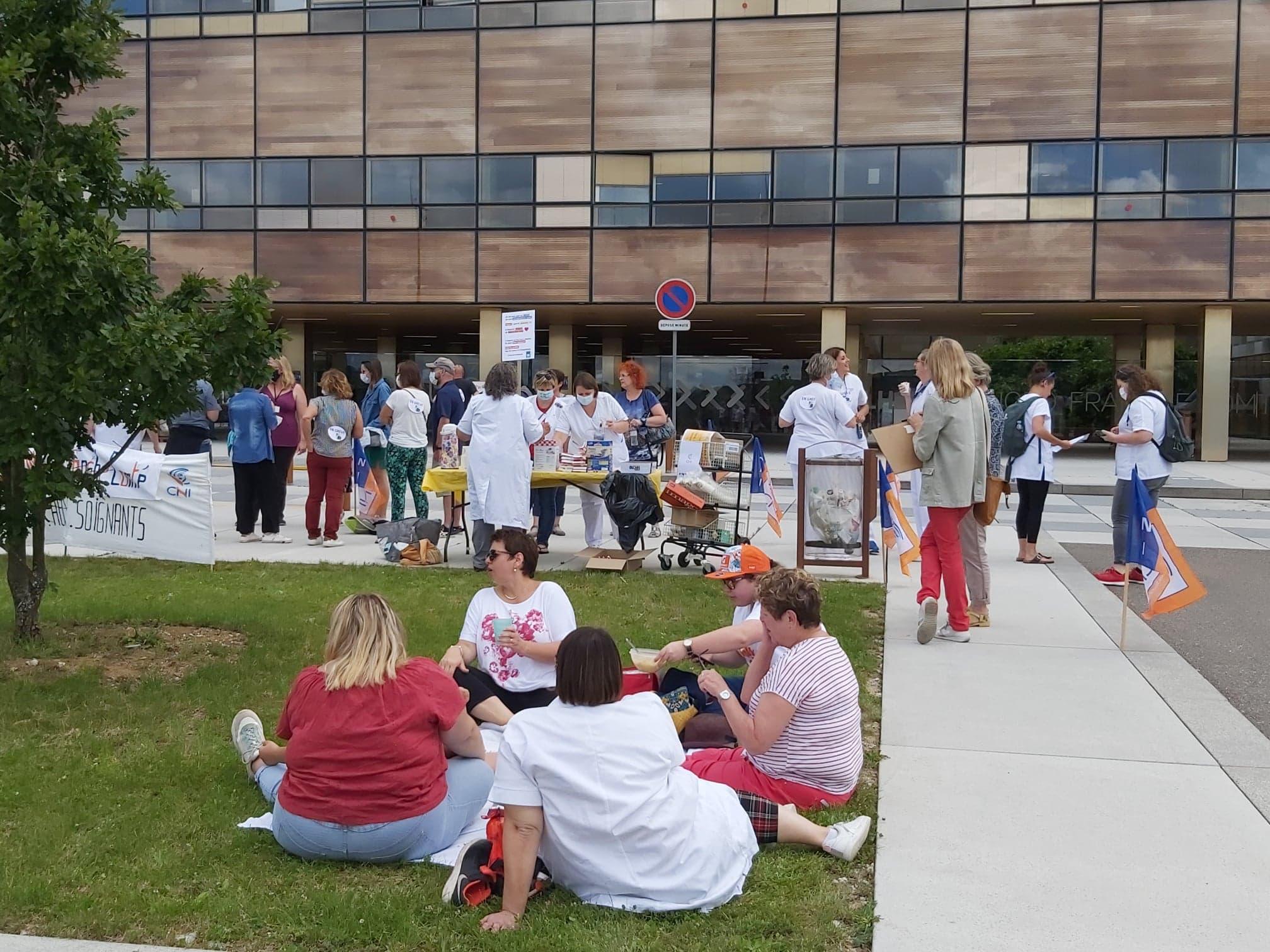 Manifestation 16 juin hôpital (DR)
