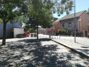 Des box de stockages de vélo ont été installés à Belfort, ici près du cinéma.