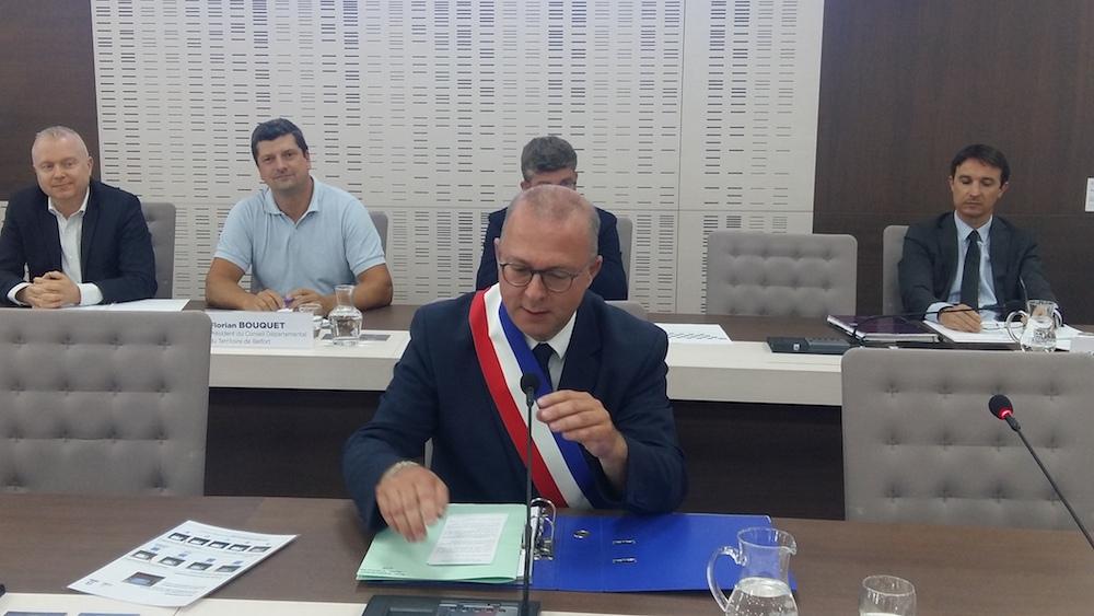 Damien Meslot a été réélu maire de Belfort lors du conseil municipal du 3 juillet 2020.