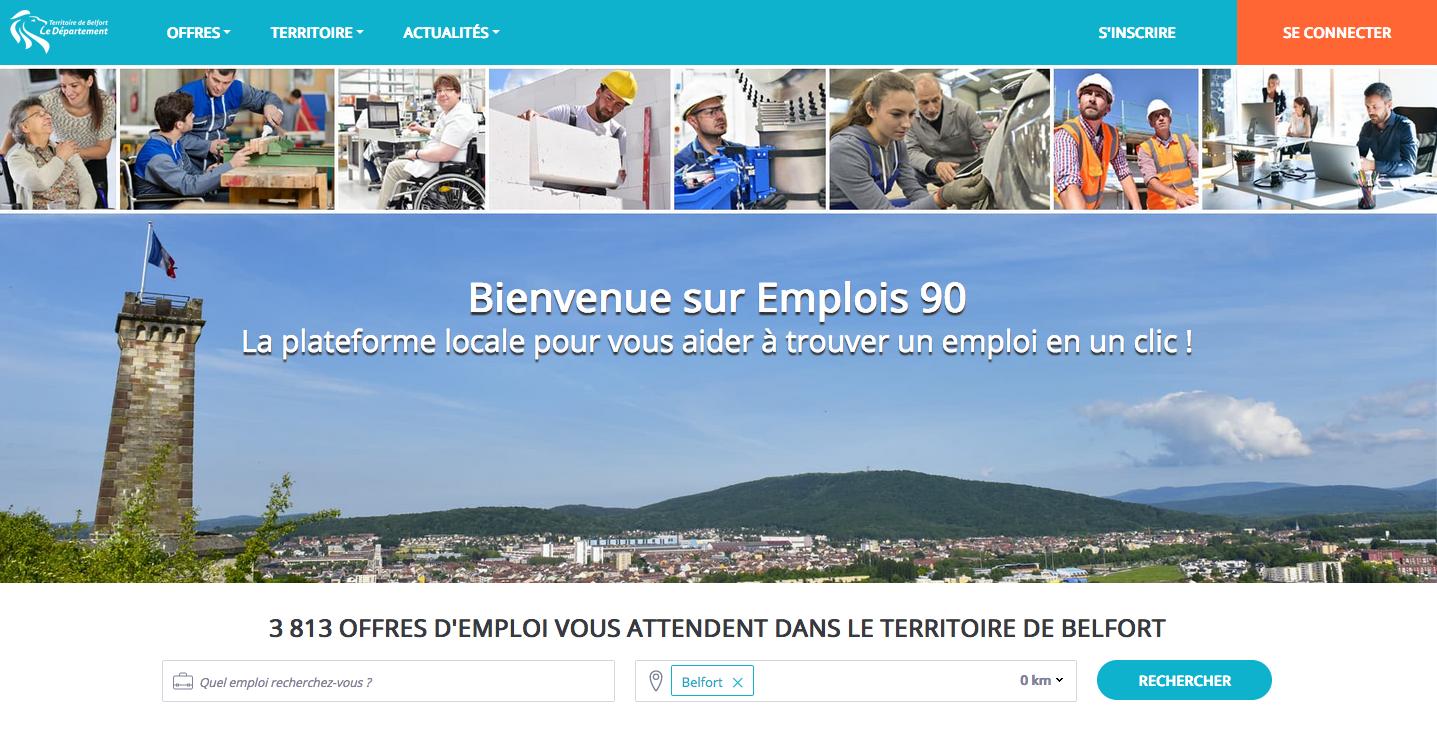 Plateforme emplois90 (DR)