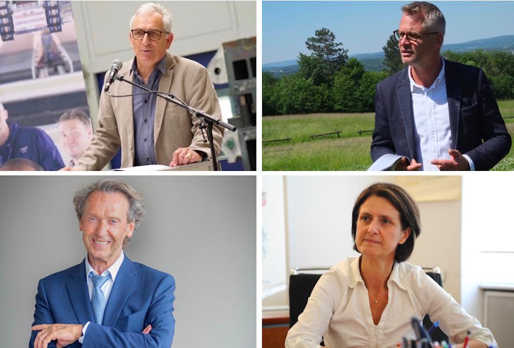 Charles Demouge, Nicolas Pacquot, Martial Bourquin et Marie-Noëlle Biguinet sont candidats à la présidence de Pays de Montbéliard Agglomération. Ils sont 4 candidats.