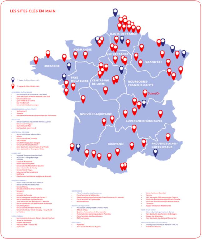 78 sites clés en main sont identifiés en France pour favoriser l'investissement industriel.