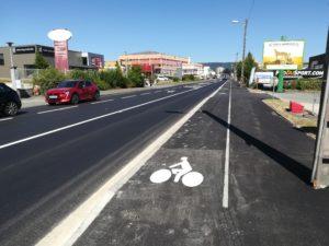 Une piste cyclable a été dessinée rue de Besançon.