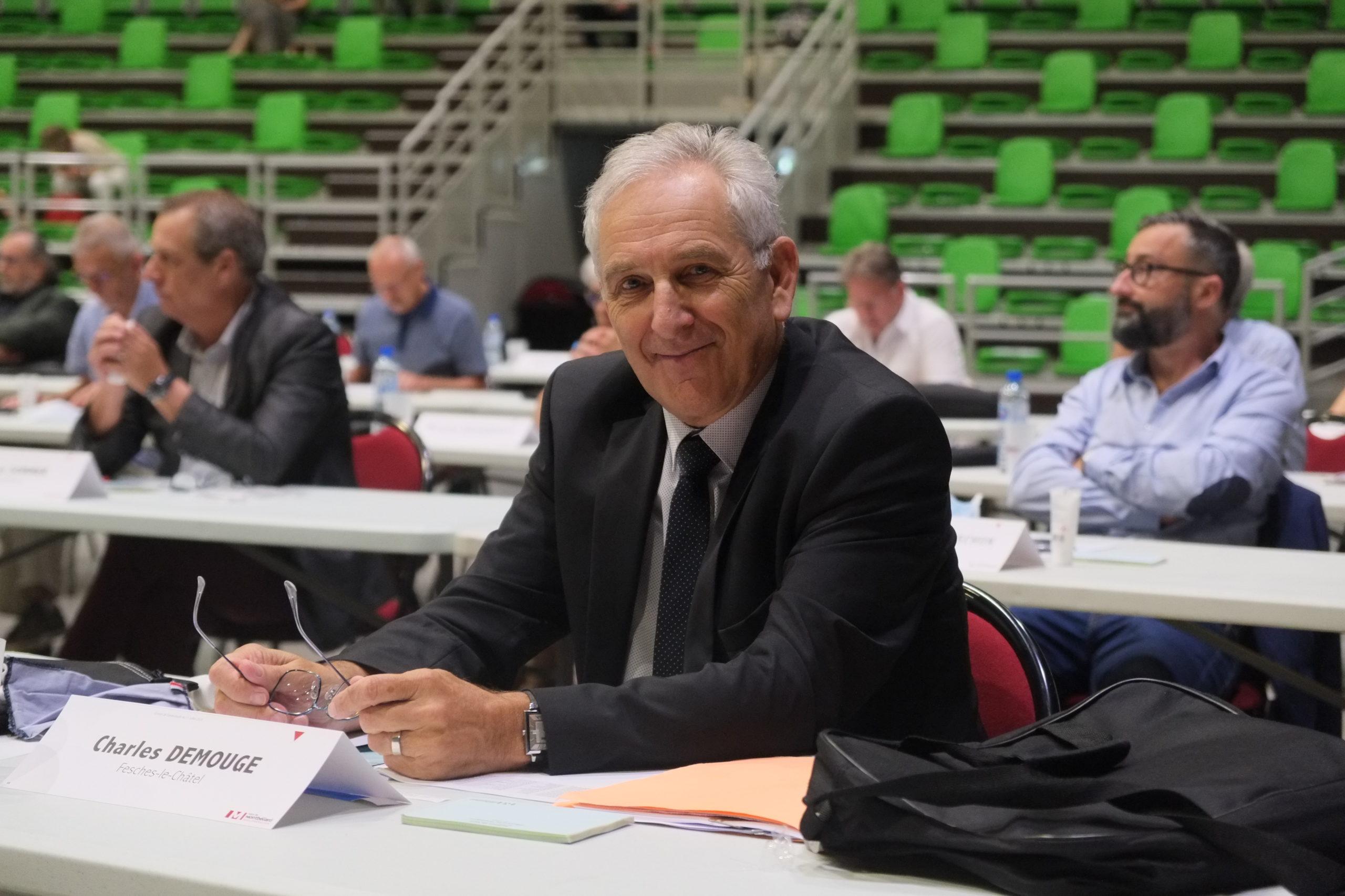 Charles Demouge réélu président de Pays de Montbéliard Agglomération (PMA)