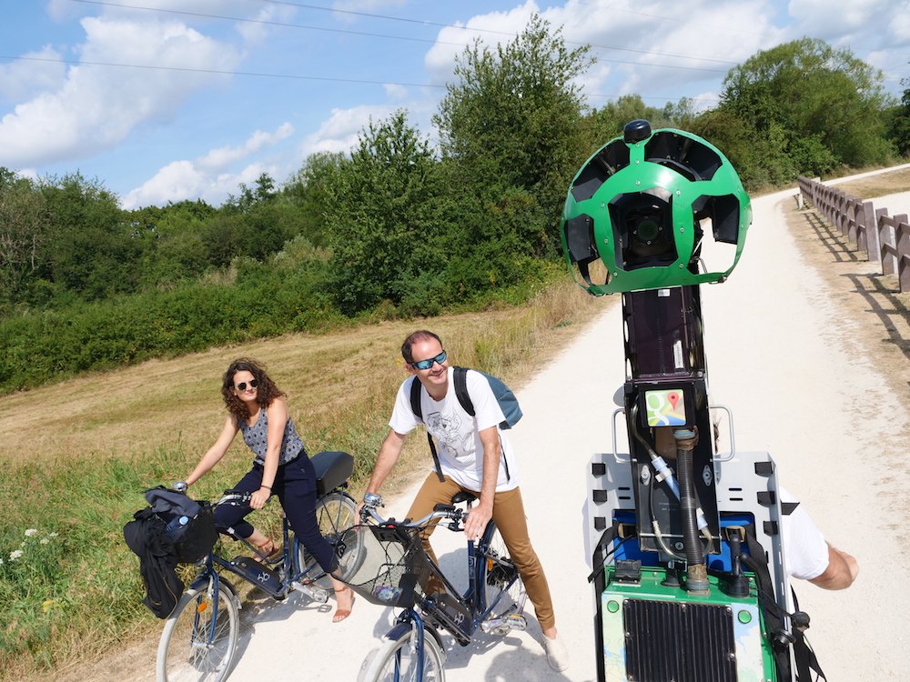 Les pistes cyclables du pays de Montbéliard visibles sur Google Street View