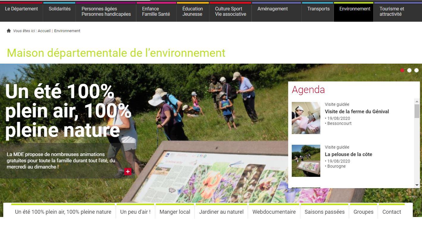 le programme est présenté sur le site du conseil départemental.