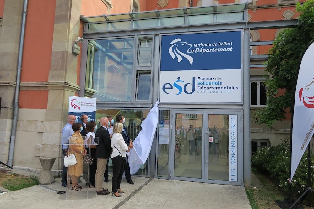 Le conseil départemental du Territoire de Belfort a inauguré un nouvel espace des solidarités à Delle.
