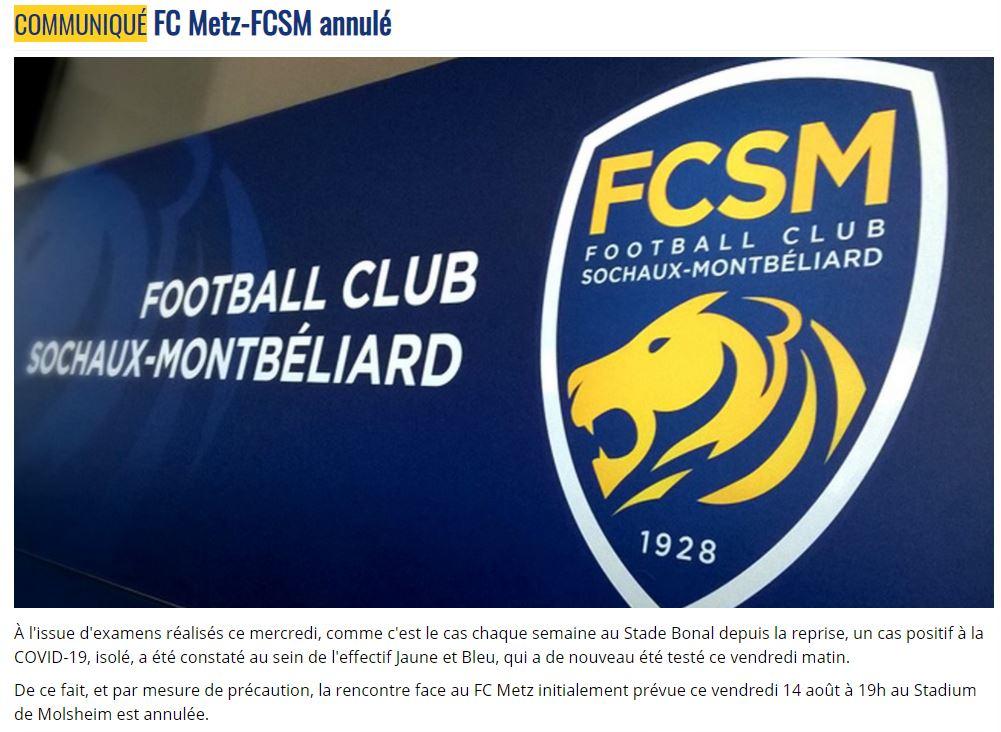 Le club sochalien a annoncé l'annulation du match ce vendredi après-midi sur son site.