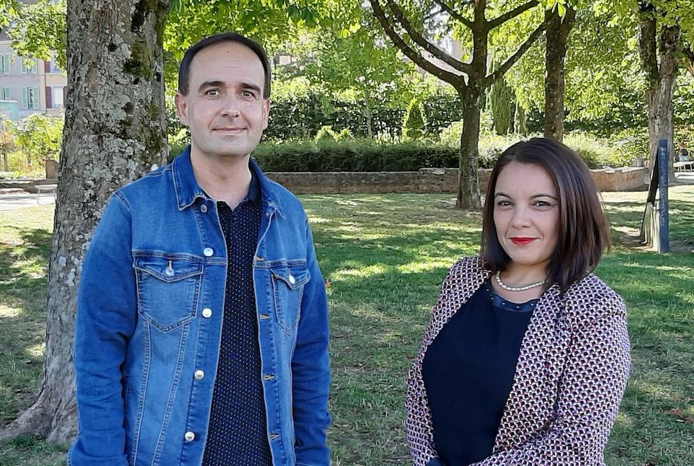 Bertrand Chevalier (PCF) et Farida Basbas (GRS), pour les sénatoriales du 27 septembre 2020