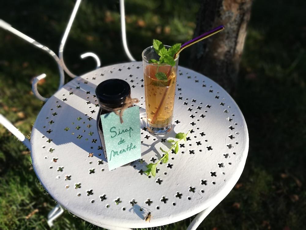 Recette pour faire du sirop de menthe, par Fleur, dans L'An Vert.