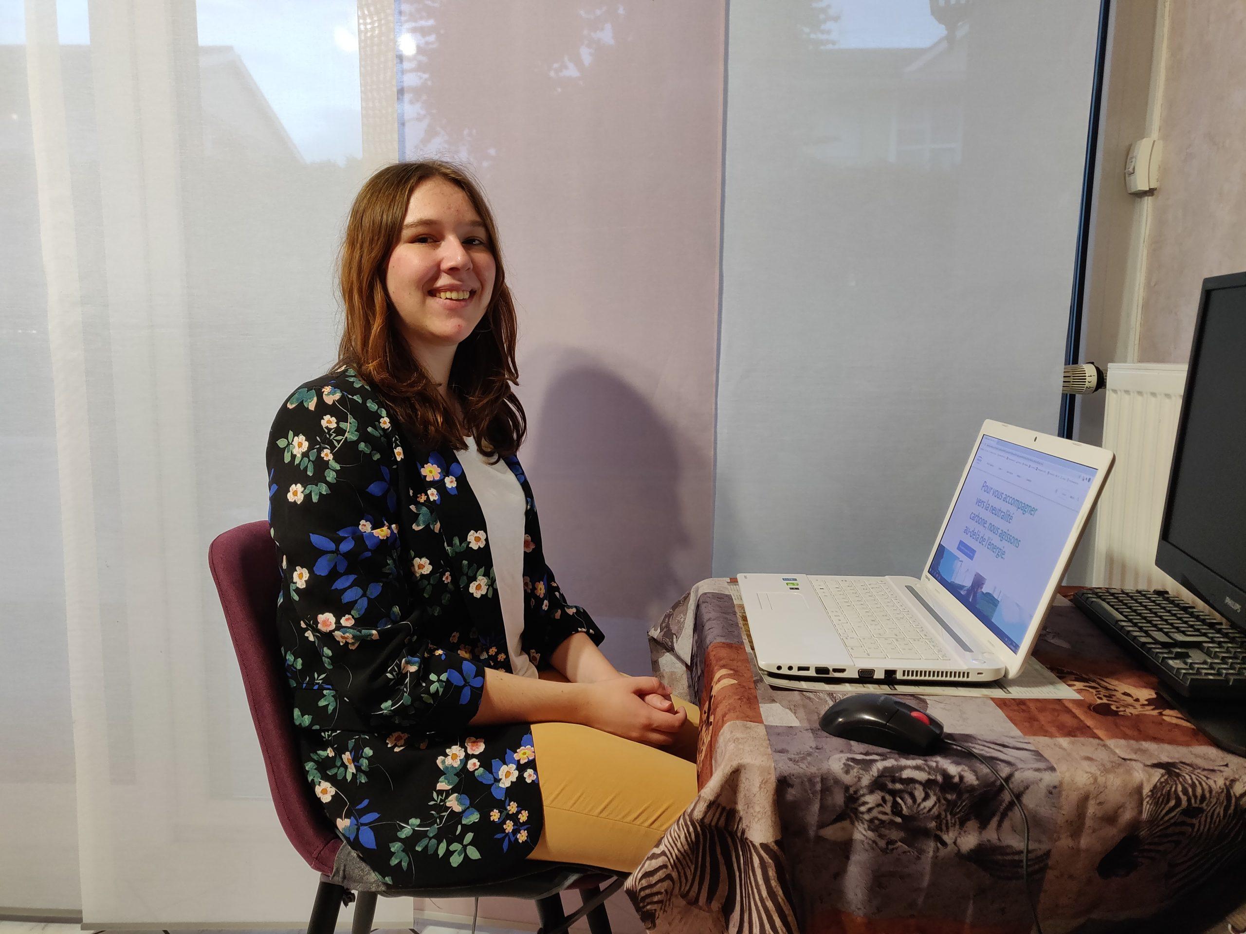 Adeline Matter, alternante chez Engie, en études d'ingénieur, parle de la féminisation en industrie.