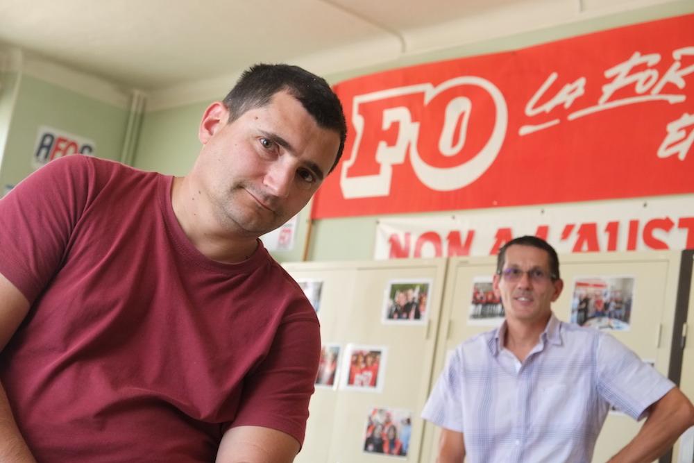 Sébastien Mercier et Éric Peultier de FO