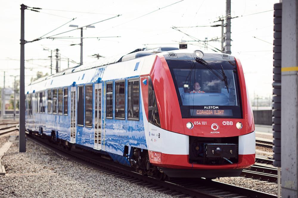Train hydrogène Alstom, en autriche (OBB)