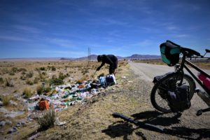Florian Danielo, en Bolivie (©Cycleantrip).