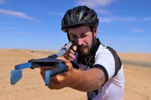 Florian Danielo, en Mauritanie (©Cycleantrip).