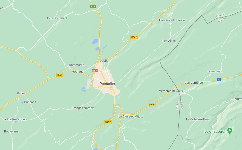 Pontarlier Doubs (google map)