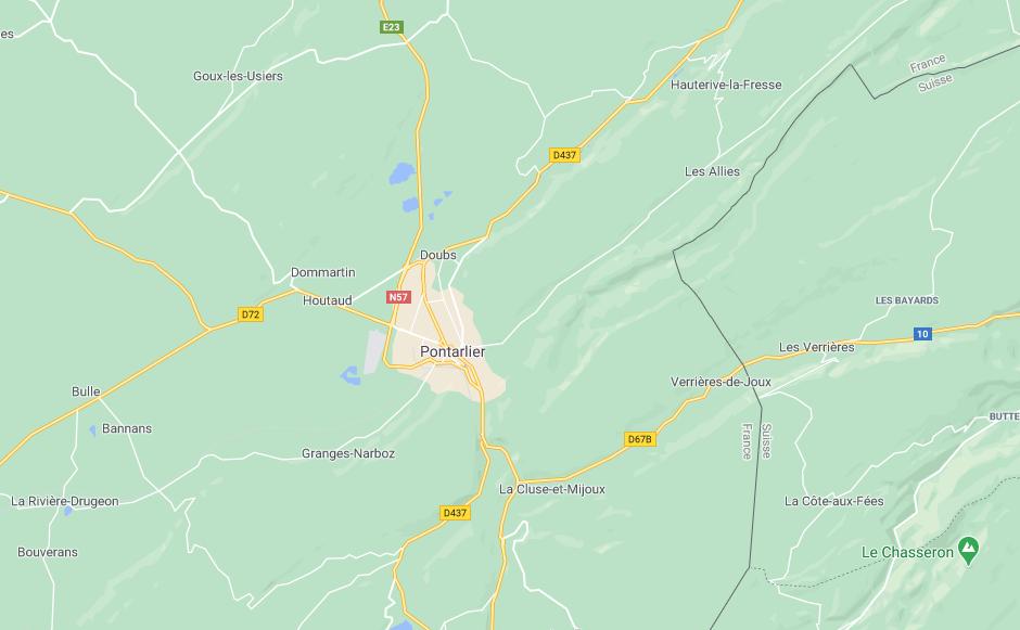 Pontarlier Doubs (google map)