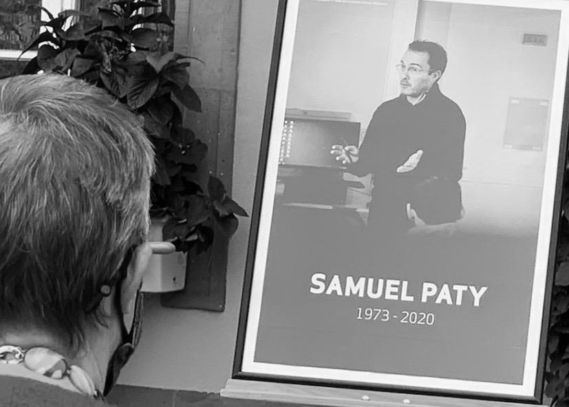 Hommage à Samuel Paty, le 21 octobre 2020 à Belfort.