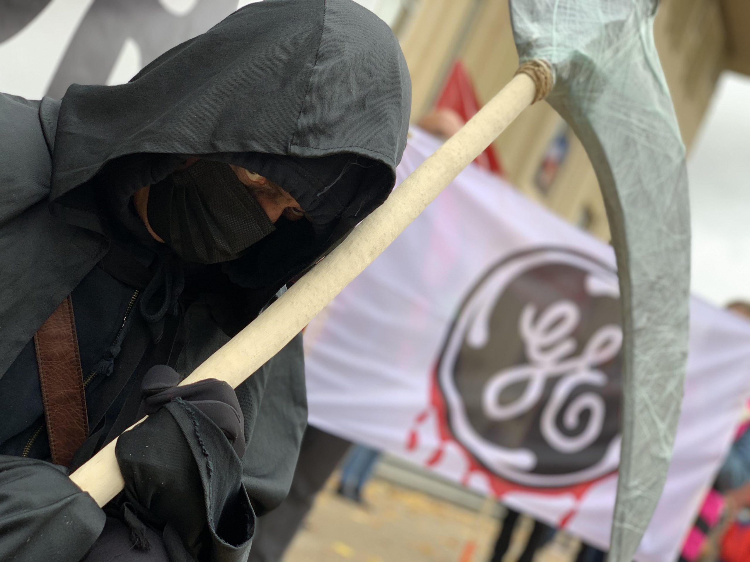 Manifestation du 24 octobre à Belfort de soutien aux salariés de General Electric.