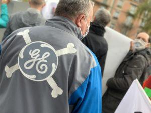 La manifestation était organisée en soutien des salariés de GE Hydro.