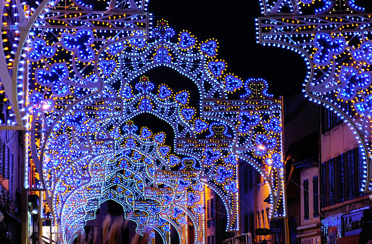 Lumières de Noël à Montbéliard.