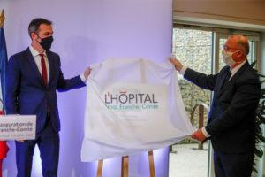 Inauguration de l'hôpital Nord Franche-Comté, près de 4 ans après l'accueil du premier patient, en janvier 2017.