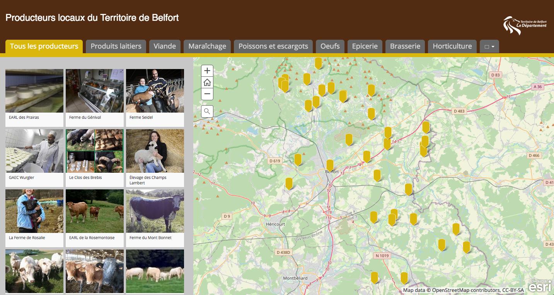 Le conseil départemental du Territoire de Belfort déploie une plateforme pour localiser les producteurs et les produits locaux.